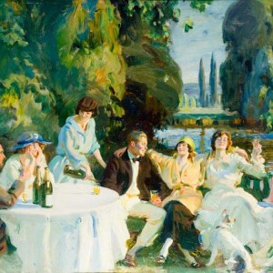 Tagg's Island (1919) Print  - Copyright the estate of Sir Alfred Munnings