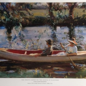 The White Canoe on the Stour at Flatford - Copyright the estate of Sir Alfred Munnings