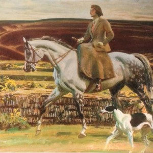 Lady Munnings on Exmoor - Copyright the estate of Sir Alfred Munnings
