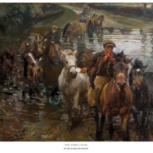 The Ford - Copyright the estate of Sir Alfred Munnings