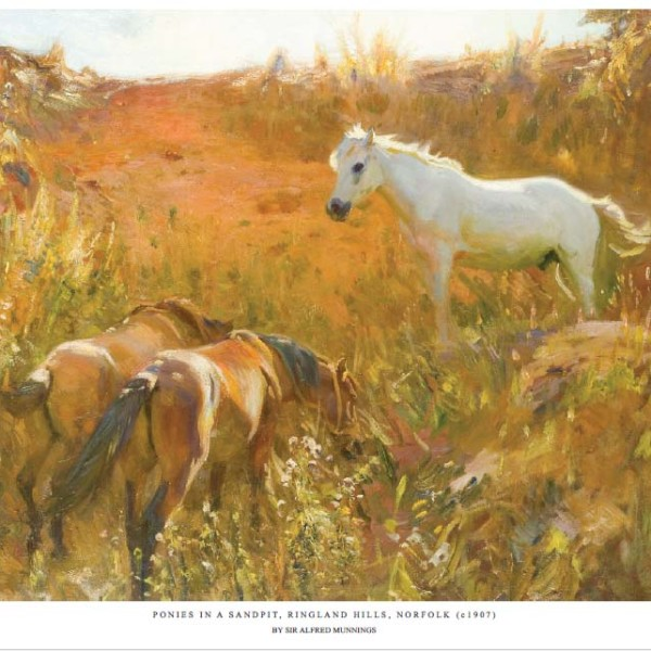 Ponies in a Sandpit - Copyright the estate of Sir Alfred Munnings